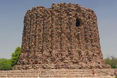 Unfinished Stone Minaret - stock photo