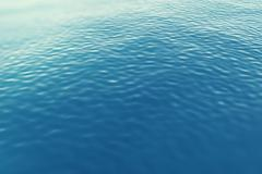 Surface sea from a height with waves. 3d illustration - stock illustration