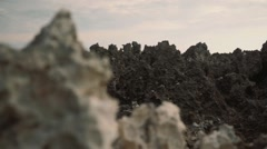 Sharp rocks landscape, parallax effect Stock Footage