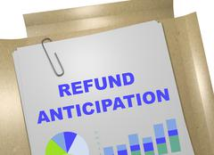 Refund Anticipation business concept Stock Illustration