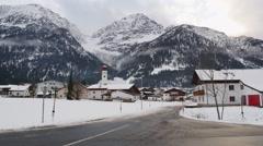 Heiterwang Village in the Tyrolean Alps Stock Footage