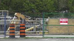 Demolition Of An Urban Bridge In Toronto  Stock Footage