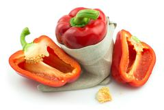 Ripe red sweet pepper Stock Photos