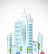Modern city background. Vector Stock Illustration