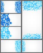 Seat of Abstract geometric backgrounds for card - stock illustration