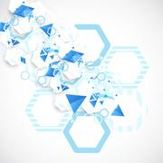 Abstract blue futuristic background for design works. - stock illustration
