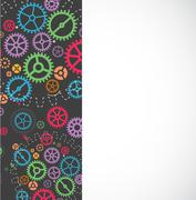 Abstract technology background with colorful gears. Vector illustration Stock Illustration