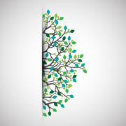 Abstract nature background. - stock illustration