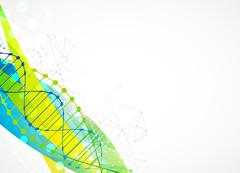 Science template,  banner with a DNA molecules. Stock Illustration