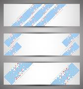 Horizontal web banners. Pixel art. Vector - stock illustration
