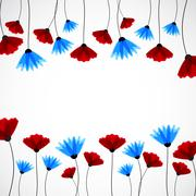 Abstract nature background. Field flowers. - stock illustration