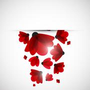Abstract nature background. Red flowers. Stock Illustration