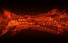 Abstract red digital communication technology background. Vector illustration Stock Illustration