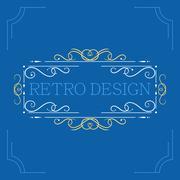 Vector vintage decorative frames. - stock illustration