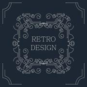 Vector vintage decorative frames. - stock illustration