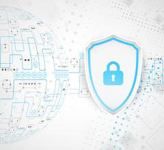 Protection background. Technology security, encode and decrypt. - stock illustration