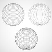 Abstract Design Sphere. Vector illustration Stock Illustration