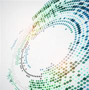 Abstract background with the chaotically located  rectangles in an oval form - stock illustration