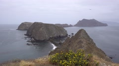 Amazing view from Inspiration point, Anacapa island - stock footage