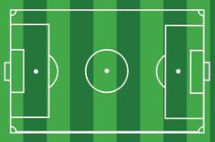 Textured grass football Vector illustration. Green soccer field, stadium Piirros