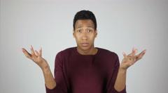 Unsatisfied  Man Reacting on Task Failure Stock Footage
