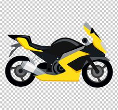Cool Motorcycle Isolated on White Background - stock illustration