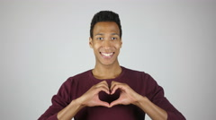 Making Heart Shape by Hands, Expressing Love, Gesture Stock Footage