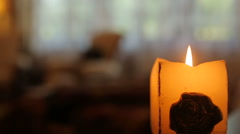 Luxury interior, candle - stock footage