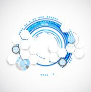 Abstract blue business science or technology background Stock Illustration