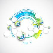 Abstract blue business science or technology background - stock illustration