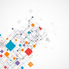 Abstract background, technology theme for your business Stock Illustration