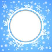 Snow fall. Holiday winter theme background. - stock illustration