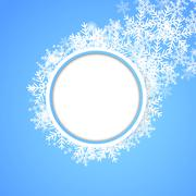 Snow fall. Holiday winter theme background. Stock Illustration