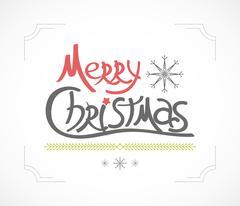 Christmas greeting card. Holiday illustration Stock Illustration