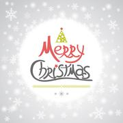 Christmas greeting card. Holiday illustration Stock Illustration
