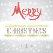 Christmas greeting card. Holiday illustration - stock illustration