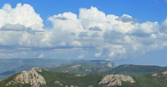 South Crimea. The mountains. Panorama. Time Lapse Stock Footage