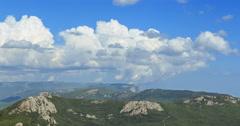The southern coast of the Crimea, a view of the plateau. Ai-Petri. Crimea. Time Stock Footage
