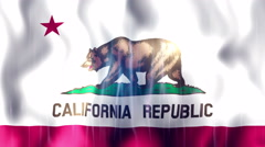 California State Flag Animation Stock Footage