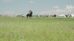 Horse Racing on the holiday Stock Footage