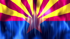 Arizona State Flag Animation Stock Footage