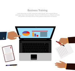 Workspace Business Training Stock Illustration