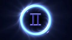 Zodiac signs Gemini Stock Footage