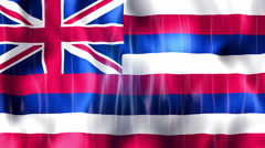 Hawaii State Flag Animation Stock Footage