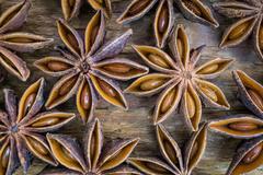 Anise star background Stock Photos
