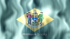 Delaware State Flag Animation Stock Footage
