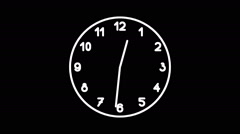 Spinning clock in 12 hour seamless loop-8-02-a - stock footage