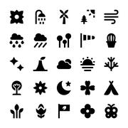 Nature and Ecology Icons Vector Piirros