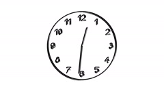 Spinning clock in 12 hour seamless loop-8-11-a - stock footage