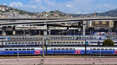 Aerial View of Nice Railway Station Stock Footage